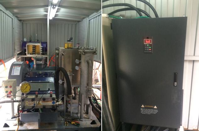 三晶电气变频器在超高压水清洗机上的改造应用